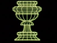 A computer graphic of a chalice from The Ascent Of Man