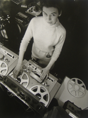 Delia Derbyshire at the BBC Radiophonic Workshop in 1965