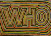 A colourful logo for 'Who Is' from her papers